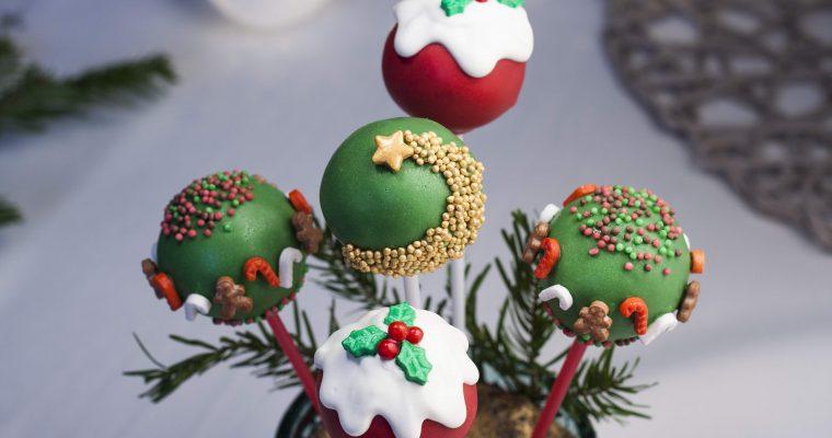 Bożonarodzeniowe cake pops