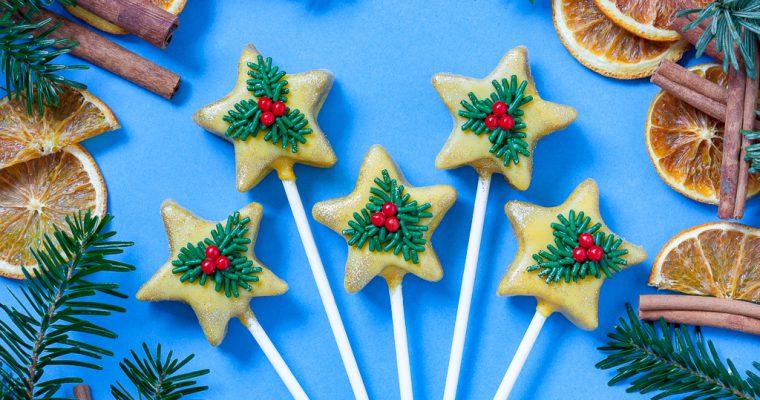 Migdałowe gwiazdki bożonarodzeniowe