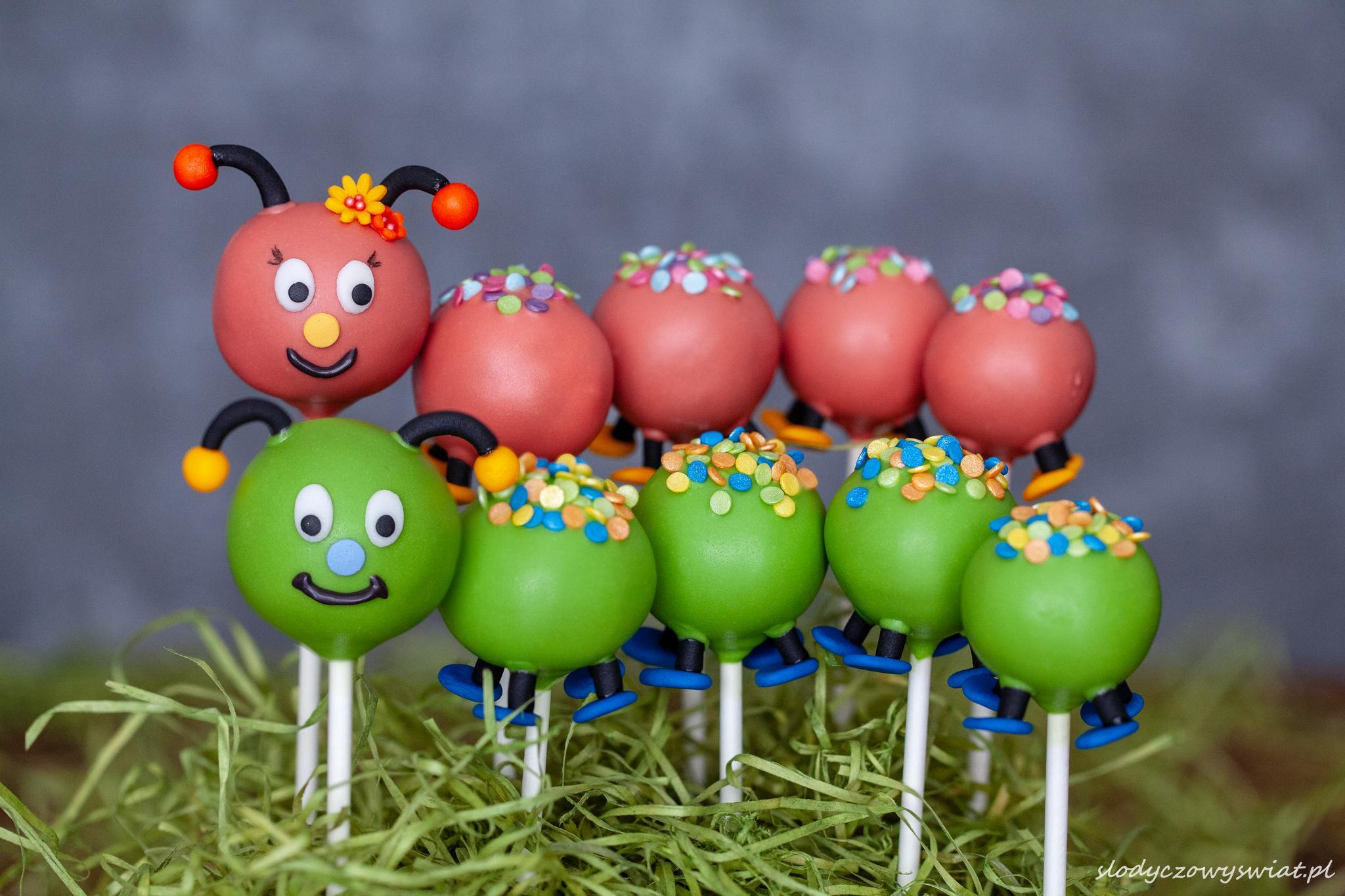 Gąsienica z cake pops