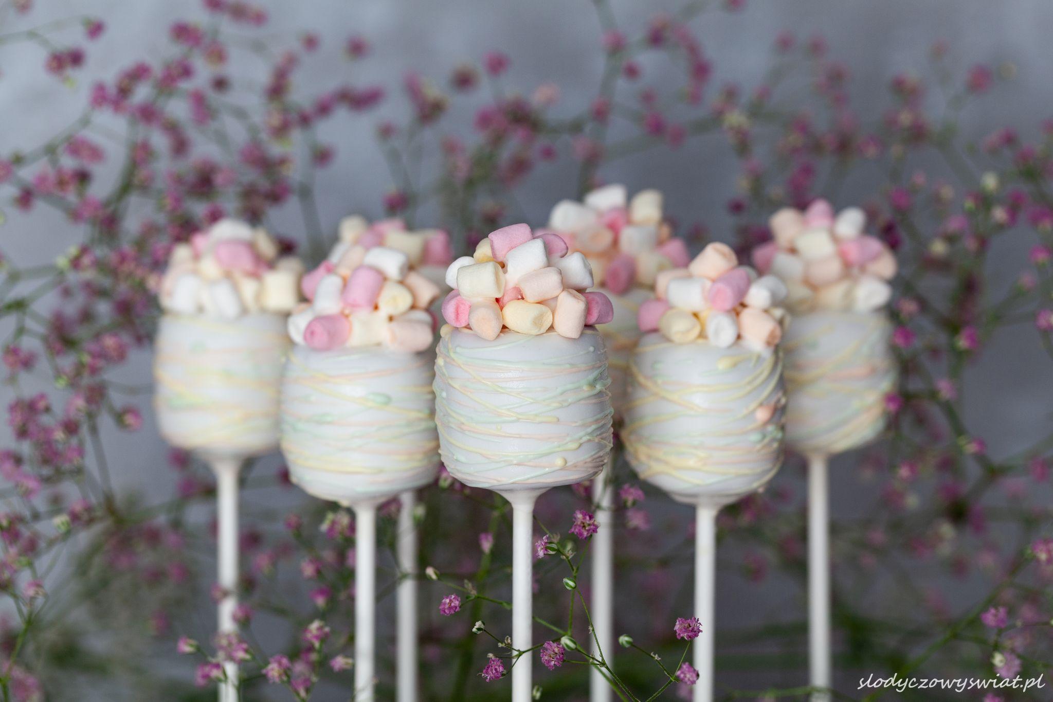 Cake pops z mini marshmallows