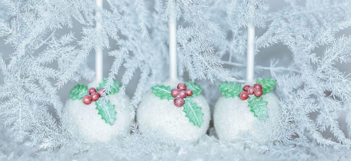 Śnieżne cake pops
